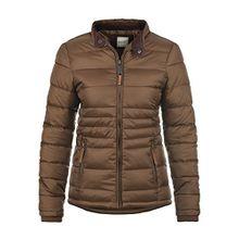 Blend She Cora Damen Steppjacke Übergangsjacke Jacke Mit Stehkragen, Größe:XL, Farbe:Brown (20021)
