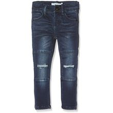 NAME IT Baby-Mädchen Jeans Nittammy Skinny Dnm Pant Nmt Noos, Blau (Dark Blue Denim), 92
