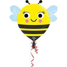 Folienballon Biene schwarz/gelb