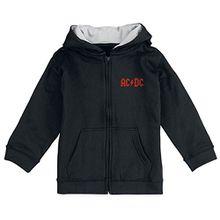 AC/DC Black Ice Kinder-Kapuzenjacke Schwarz 140