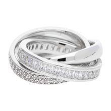 Esprit Fingerring aus Metall ESRG02258A Ringe silber Damen