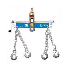 GÜDE Werkstattkran-Balancer mit Handkurbel, 4 Ketten mit Sicherheitshaken