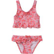 SANETTA Bikini hellblau / rosa / hellrot / schwarz / weiß