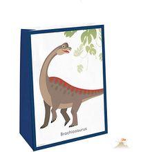 Papiertüten mit Sticker Happy Dinosaur, 4 Stück