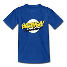 Spreadshirt Big Bang Theory Bazinga Spruch Sheldon Teenager T-Shirt, 152/164 (12-14 Jahre), Royalblau