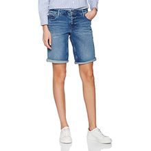 Tommy Jeans Hilfiger Denim Damen Thdw Clssc Dnm Shorts Mid Dubst 13, Blau (Duke Blue Stretch 911), 34 (Herstellergröße: NI26)