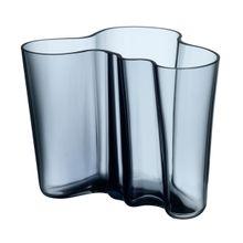 Aalto Vase regenblau Glas h 16 cm