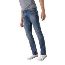 HIS STANTON - Straight Fit Jeans - Pure Medium Blue