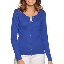 Milano Strickjacke in blau für Damen