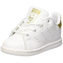 adidas Unisex Baby Stan Smith Ballerinas, Elfenbein (FTWR White/Gold Metallic/Gold Metallic), 26 EU