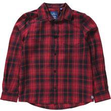 TOM TAILOR Kinder Langarmhemd rot / schwarz