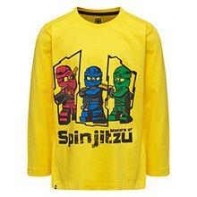 Lego Wear Jungen Lego Boy Ninjago M-72172-Langarmshirt, Gelb (Yellow 233), 152