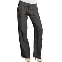 CASPAR KHS025 Damen Leinenhose, Farbe:dunkelgrau;Größe:42 XL UK14 US12