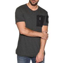 Rusty Neal T-Shirt zipbare Brusttasche in grau für Herren