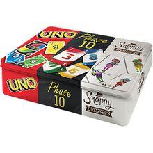 Mattel Games Kartenspiel-Klassiker in Metalldose: UNO, Phase 10 und Snappy Dressers
