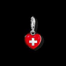 """Thomas Sabo Charm-Anhänger """"Herz Schweiz"""" rot 0894-007-10"""