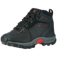 Columbia Newton Ridge Unisex-Kinder Trekking- & Wanderhalbschuhe, Schwarz (Black/Mountain Red), 25 EU