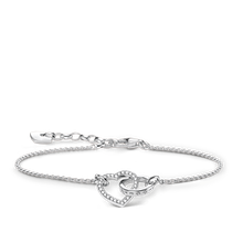 "Thomas Sabo Armband ""TOGETHER Herz Groß"" weiss A1649-051-14-L19V"