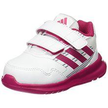 adidas Unisex Baby AltaRun CF Sneaker, Weiß (FTWR White/Bold Pink/Mid Grey), 23 EU