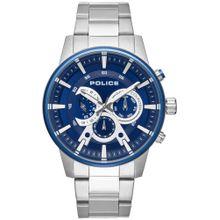 POLICE Uhr 'AVONDALE PL15523JSTBL.03M' blau / silber / weiß
