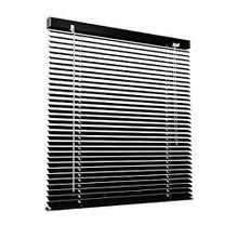 Aluminium Jalousie, 140 x 130 cm, schwarz, VICTORIA M - Jalousie ohne Bohren, inkl. Klemmclips