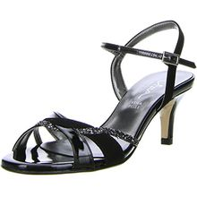 Vista Damen Sandaletten schwarz, Größe:36;Farbe:Schwarz
