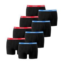 HEAD Men Boxershort Basic Boxer 8er Pack (M, Red/Blue/Black)