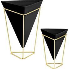 """umbra 2er-Set Vase & Aufbewahrung """"Trigg Vessel"""" schwarz/gold"""