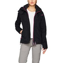 Superdry Damen Sweatjacke Tech, Schwarz (Black/Raspberry 27B), Small