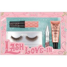 Benefit Augen Augenbrauen Wimpern- und Augenbrauenset Lash-Love In Roller Lash Mascara Mini 4 g + Gimme Brow+ Mini Nr. 03 1,5 g + Pin-Up Lash + Real False Lashes Invisible Lash Glue 7 ml 1 Stk.