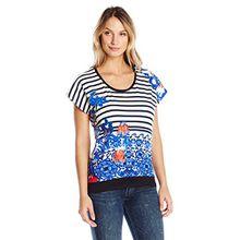 Desigual Damen T-Shirt Eloisa, Gr. X-Small (Herstellergröße: S), Weiß (Algodón 1015)