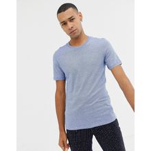 Selected Homme - Meliertes T-Shirt - Blau