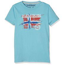 Napapijri Jungen T-Shirt K Sisalia, Türkis (Reef I77), 140 (Herstellergröße: 10)