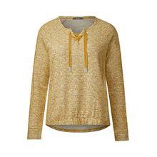 Cecil Damen Multicolor Bouclé Shirt Golden Lemonade XXL