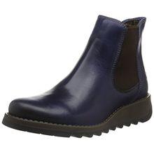 FLY London Damen Salv Chelsea Boots, Blau (Blue 019), 38 EU