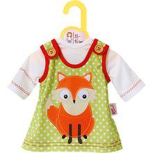 Dolly Moda Puppenkleidung Kleid mit Fuchs 38-46 cm