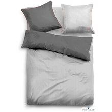 TOM TAILOR Satin-Bettwäsche mit Reißverschluss, grau 155X220 CM