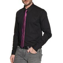 Mishumo Hemd Slim Fit + Krawatte in schwarz für Herren