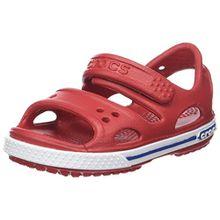 crocs Crocband II Sandal Kids, Unisex - Kinder Sandalen, Rot (Pepper/Blue Jean), 19/20 EU
