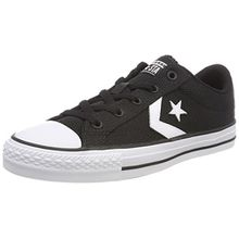 Converse Unisex-Erwachsene Star Player OX White/Black Sneaker, Schwarz (Black/White/Black 001), 38 EU