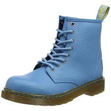 Dr. Martens Delaney, Unisex-Kinder Stiefel, Blau (Sky Blue Pebble Lamper), 34 EU (2 UK)
