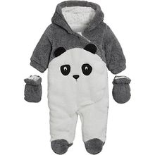 Baby Overall, Panda grau