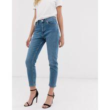 Mango - Mom-Jeans in Blau - Blau