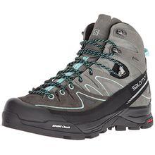 Salomon Damen X Alp Mid Ltr GTX W Trekking-& Wanderstiefel, Grau (Shadow/Castor Gray/Aruba Blue 000), 39 1/3 EU