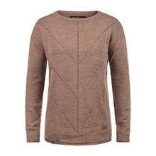 Blend She Nana Damen Strickpullover Feinstrick Pullover Mit Rundhals Und Melierung Loose Fit, Größe:S, Farbe:Clove (12240)
