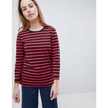 Only - Anya - Gestreiftes Sweatshirt mit 3/4 langen Ärmeln - Navy