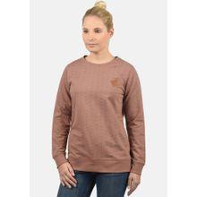 Blend She Sweatshirt 'Polly' hellbraun / schwarz