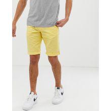 Esprit - Schmal geschnittene Chino-Shorts in Gelb - Gelb