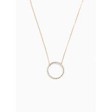 Jewel Circle Pendant Necklace - White