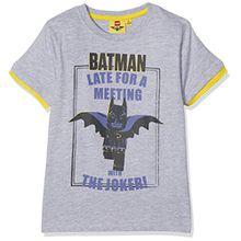 Lego Batman Jungen T-Shirt 793-Legobatman, Grau (Grau), 6 Jahre